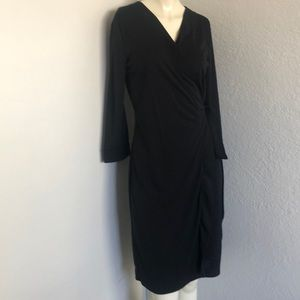 Classic black wrap dress by Ava